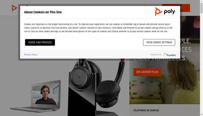 Site internet de Polycom France
