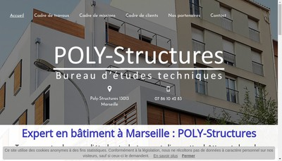 Site internet de SARL Poly-Structures
