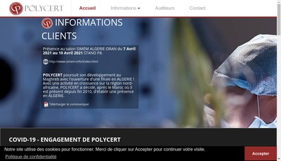 Site internet de Polycert