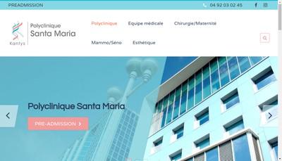 Site internet de Polyclinique Santa Maria