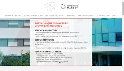 Site internet de Polyclinique de Navarre