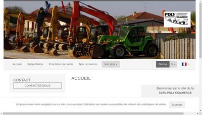 Site internet de Poly Commerce