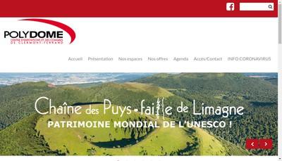 Site internet de Societe d'Exploitation du Polydome de Clermont Ferrand