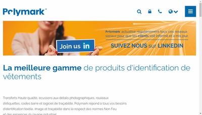 Site internet de Polymark Graphics