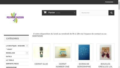 Site internet de Polymere Passion