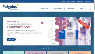 Site internet de Polyplus - Transfection