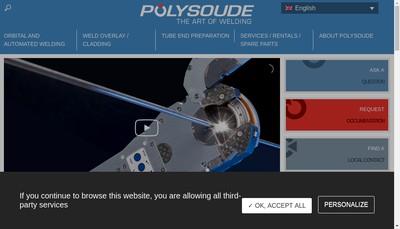 Site internet de Polysoude