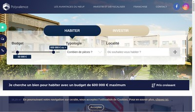 Site internet de Groupe Polyvalence Immobilier