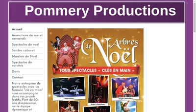 Site internet de Pommery Productions
