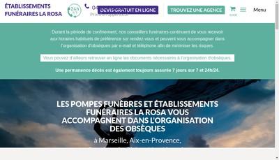 Site internet de Pompes Funebres du Sud-Est