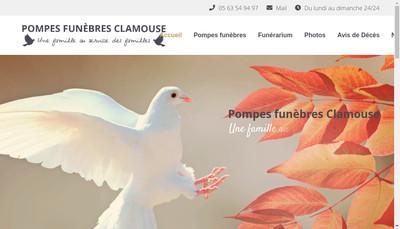 Site internet de Clamouse Pompes Funebres