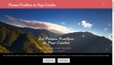 Site internet de Pompes Funebres du Pays Caralan