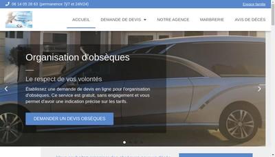 Site internet de Pompes Funebres du Bassin de Thau