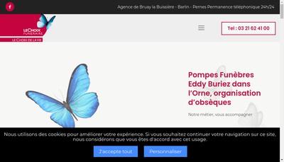 Site internet de SARL Buriez