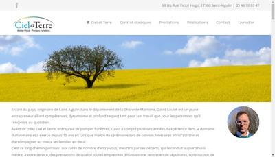 Site internet de Pompes Funebres Ciel et Terre David Soulet