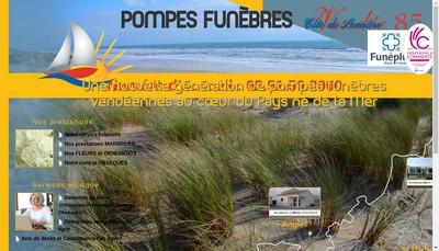 Site internet de Pompes Funebres Cote de Lumiere