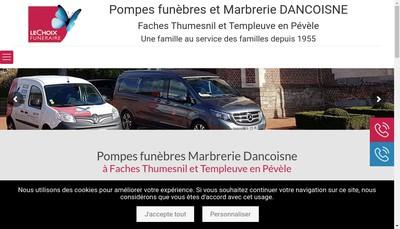 Site internet de Pompes Funebres Dancoisne