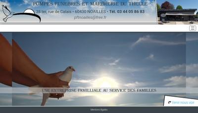 Site internet de Pompes Funebres et Marbrerie du Thelle