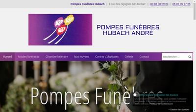 Site internet de Hubach SARL