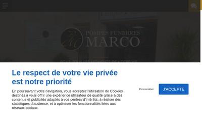 Site internet de Pompes Funebres Marco