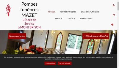 Site internet de Pompes Funebres Mazet