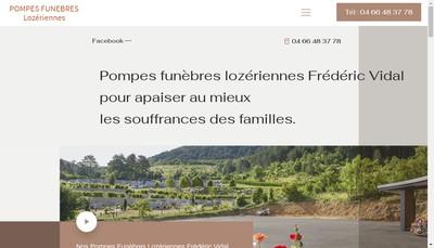 Site internet de Pompes Funebres Lozeriennes