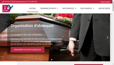Site internet de Pompes Funebres Seissannaises