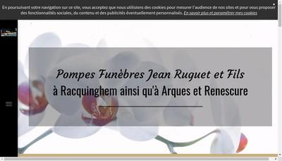Site internet de Pompes Funebres Jean Ruguet et Fils