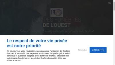 Site internet de Pompes Funebres de l'Ouest