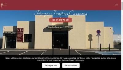Site internet de Pompes Funebres Casanova