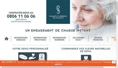Site internet de France Funeraire Pompes Funebres