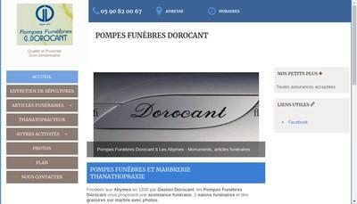 Site internet de Pompes Funebres G Dorocant et Cie