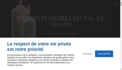 Site internet de Pompes Funebres du Val de Viosne
