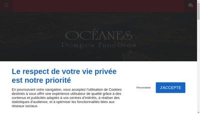 Site internet de Pompes Funebres Oceanes