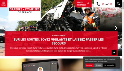 Site internet de Pompiers de France la Boutique