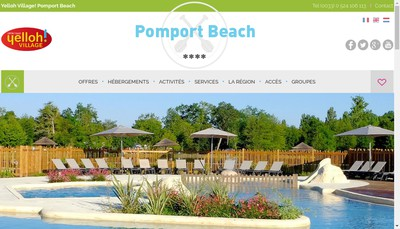 Site internet de Pomport Beach
