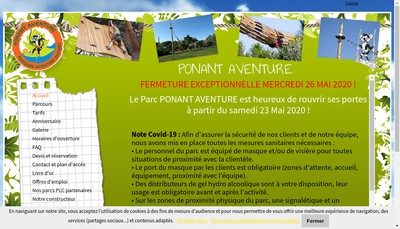 Site internet de Ponant Aventure