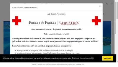 Site internet de Poncet & Poncet SARL
