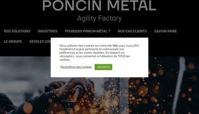 Site internet de Poncin Metal