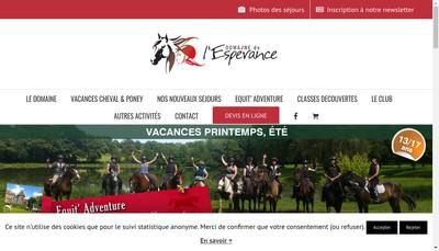 Site internet de Poney-Club de l'Esperance