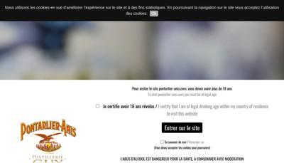 Site internet de Distillerie Pierre Guy