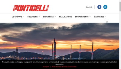 Site internet de Ponticelli Freres Holding