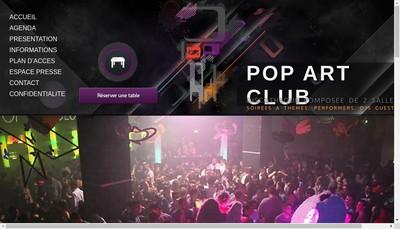 Site internet de Pop'Art Club