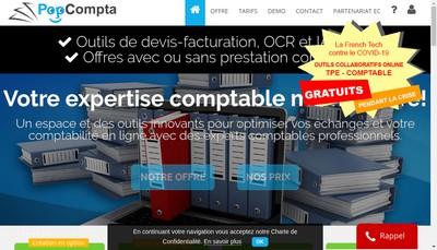 Site internet de Popcompta