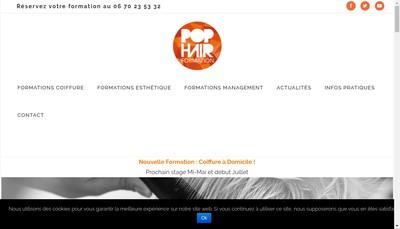 Site internet de Pop Hair Formation