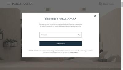 Site internet de Porcelanosa