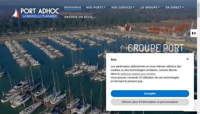 Site internet de Port Adhoc SAS
