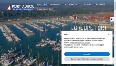 Site internet de Port Adhoc Leucate