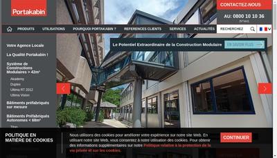 Site internet de Portakabin Modulaire SAS