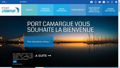 Site internet de Societe de Plaisance Internationale Port Camargue